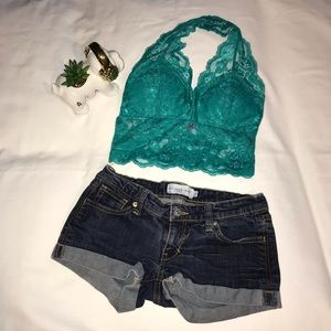 ⚡️Sexy Turquoise Lace Bralette with Padding